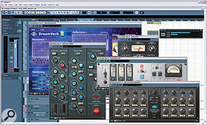 A selection of plug–ins running in Cubase — the hardware equivalents of this little lot alone would far surpass the price of the UAD2 Quad.