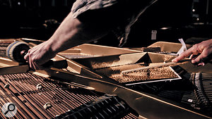 Clément Ducol demonstrates some of the techniques used to extract percussive sounds from the grand piano.