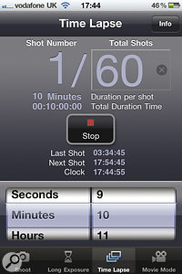 Time Lapse mode allows still images to be taken at intervals, which is perfect for creating emotive video sequences.