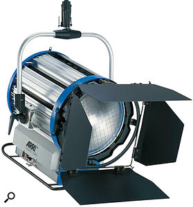 "This Arri 12,000W HMI Fresnel light is daylight balanced (5600K) and outputs extremely bright and powerful illumination, but doesn't come cheap, at around <span class=""uk"">£11,000</span><span class=""us"">$14000</span>!"