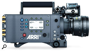 The Arri Alexa (top) and RED One (above) are high-end cameras used in big- budget productions, pictured here with only the camera bodies. Editing the kind of footage they are capable of producing requires a lot of computer power and storage space. Getting the best from this kind of equipment requires a lot of extra supporting gear and much knowledge and skill.