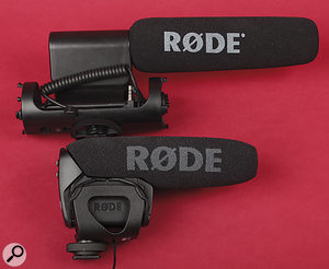 The original Rode Videomic is pictured above the new Videomi