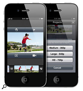 The Apple iPhone is an example of a phone which can both shoot and edit 720p video, allowing you to upload the finished piece straight to your favoured video-hosting web site.