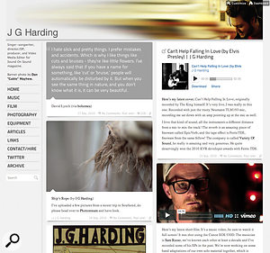 Tumblr is one of the fastest‑growing social networks, and provides away of gathering hosted content together as aweb site. My site, http://jgharding.com, was created with Tumblr hosting photos on Flikr, music on Bandcamp and video content on Vimeo Plus.