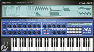 Perhaps the biggest benefit of PPG Wave 3.V, the Graph page finally makes wavetable synthesis clear and intuitive.