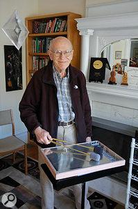 Max Matthews, 'father of computer music', with the Radio Baton.