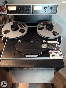 "The ""last great tape machine"": Wood's Ampex ATR102."