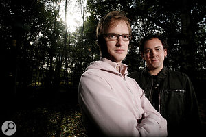 Left: Younger Brother: Benji Vaughan (left) and Simon Posford.