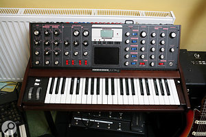 """""""The Voyager I quite like,"""" says Posford. """"I got it after using a Minimoog in a gig. It just sounded so fat and the Voyager is close. Each Minimoog sounds so different, though, and this wasn't quite like the Minimoog I was hoping for."""""""