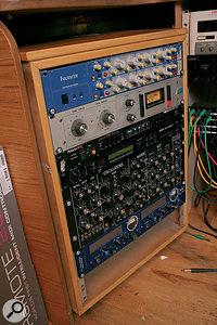 Rack gear includes a Studio Electronics MIDIMini Minimoog clone.