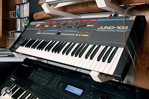 Another classic synth: the Roland Juno 106.