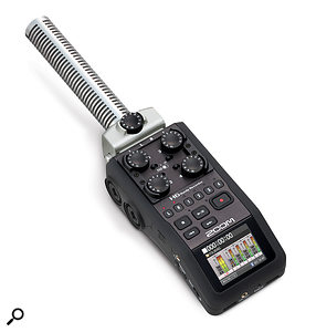 Shotgun mic and balanced mic/line-level input modules are available as cost options.