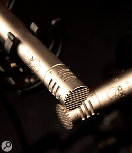 The X-Y crossed-pair mic technique minimises phase cancellation and offers plenty of tonal flexibility on acoustic guitar.