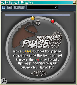 If you encounter phase problems during the mix, you could try using a phase-alignment tool such as Little Labs' IBP (shown here for the UAD platform), Voxengo's PHA979 or Betabugs' freeware Phasebug.