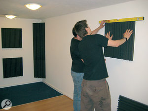 A spirit level will help to keep things looking neat.