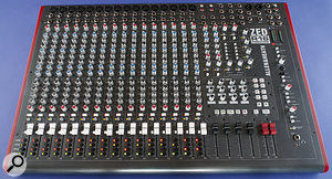 Despite the DAW-oriented nature of the ZED R16, it still looks like an analogue mixer, and has high-quality mic preamps and EQ on the 16 mono channels.