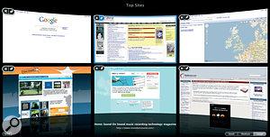 Safari's new Top Sites feature.