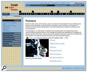 The centre's acoustic trumpet research explained at IRCAM's web site.
