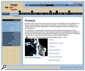 The centre's acoustic trumpet research explained at IRCAM's web site.