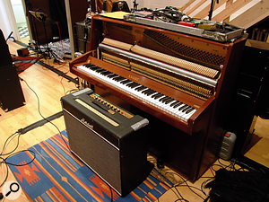 The Knight upright used for most of the 'keeper' piano parts.