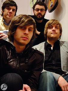 Left to right: (back) keyboardist Tim Wanstall and drummer Steve Roberts; (front) singer/guitarist Joel Pott and bassist Carey Willets.