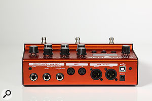 The Amplifire's effects-loop returns can double up as expression-pedal inputs.
