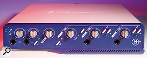 The Digidesign M Box 2 Pro is one of the few interfaces that offer four inputs, a useful halfway house between simple stereo interfaces and the many 8-input devices on the market.