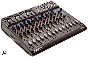 The Alesis MultiMix 16 USB is a good example of the recent trend for analogue mixers to incorporate USB or Firewire interfacing, allowing them to do two jobs in the studio at the same time.