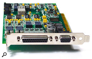 While USB and Firewire interfaces now seem to dominate the market, PCI soundcards such as the Lynx Two are capable of superb audio quality with very low latency at a competitive price.