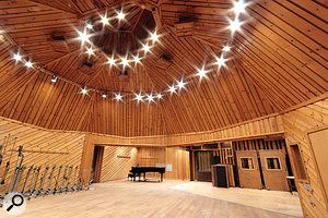The magnificent wood-panelled live area in Avatar Studio A.