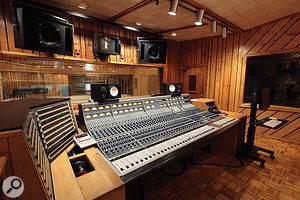Studio A's Neve desk: the 31102 channel strips are very close relatives of the legendary 1084 input modules.