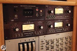 Outboard in Studio Aincludes these heavily modified Universal Audio LA3A compressors.