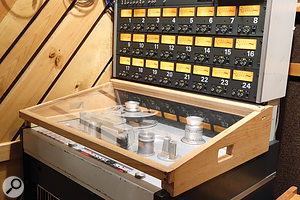 Wood is good: even the tape recorders have their own custom-made furniture!