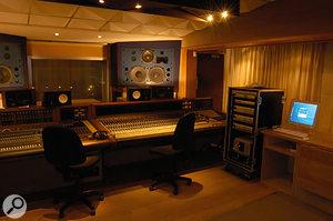 The Quadrangle at Rockfield, where the Darkness recorded through the studio's vintage MCI desk.