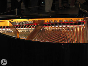 One of the MIDI grand pianos in action.