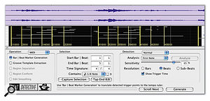 Beat Detective shows me where it thinks the bars and beats fall within the selection. Adjusting the Sensitivity control helps to get it right.