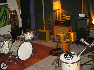 Equipment at Ben Allen's Maze Studios reflects his emphasis on recording real instruments.