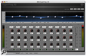 The Superfreq parametric EQ from the Master Perfection Suite.