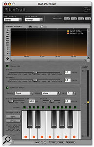 The Pitchcraft pitch-correction plug-in that comes as part of the Master Perfection Suite with Peak Pro 5 XT.