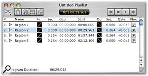 Playlists can be exported into Jam for burning to CD, but discs can also now be burned directly from Peak.