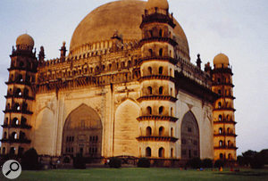 The Golgumbaz in Bijapur, India, is claimed to have the second largest dome in the world, with a 'whispering gallery' that provided some amazing binaural recordings.