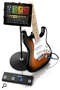 IK Multimedia iRig BlueBoard in situ with iPad and guitar