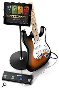 IK Multimedia iRig BlueBoard in situ with iPad and guitar