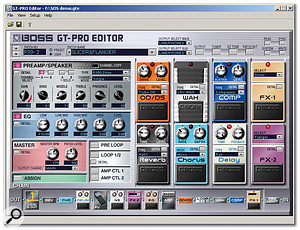 The main window of the GT Pro Editor software is busy but easy to navigate.