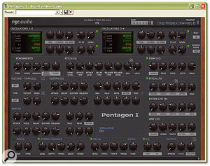 RGC Audio's Pentagon I is a supremely flexible and good-sounding virtual analogue soft synth.