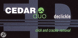 CEDAR Audio Duo Auto Dehiss
