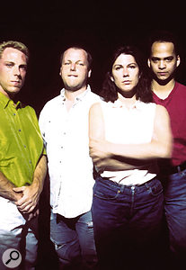 The Pixies: from left, David Lovering, Charles 'Black Francis' Thompson, Kim Deal and Joey Santiago.