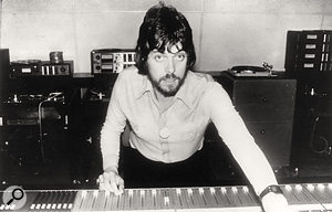 Alan Parsons in the studio in the early '70s.