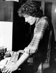 Phill Brown at work in the early '70s.