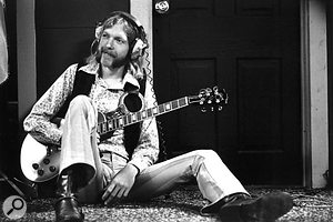 Duane Allman with his trademark groovy sideburns and 'tache.